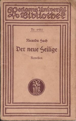 Nr. 18 R.H. Der neue Heilige  Reclam 1924 Scan